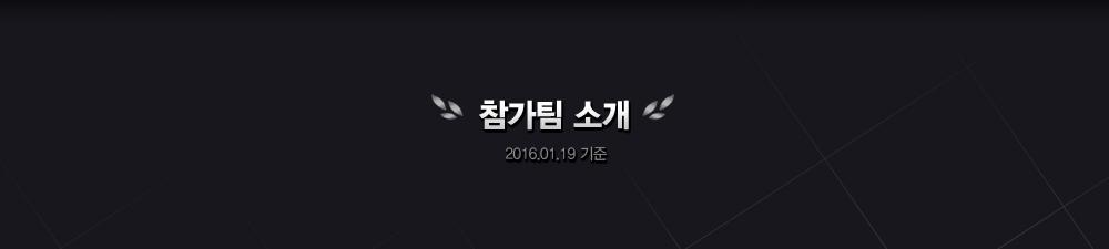 참가팀 소개
